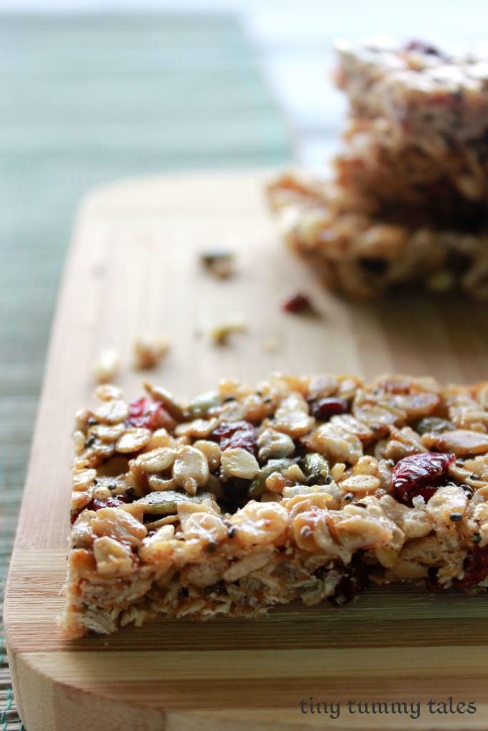Whole grain granola bars, gluten free, nut free options