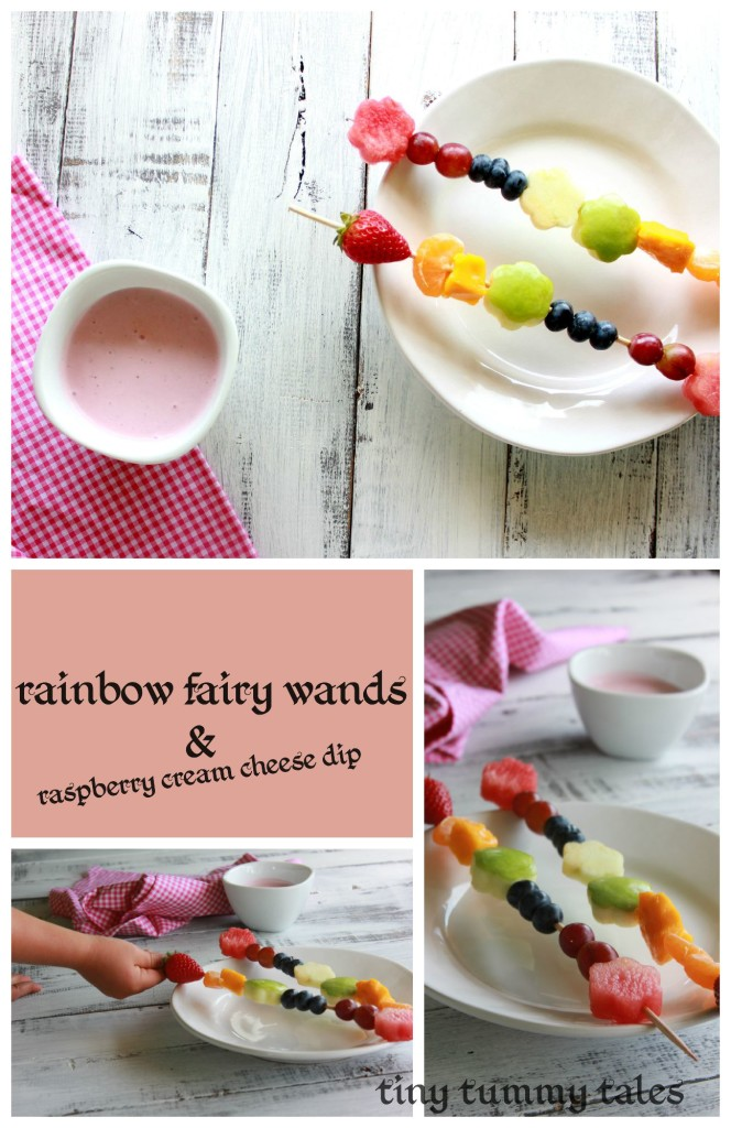 'fairy wand' fuit kabobs. Fun healthy snack for kids! Also a kids story to go along with this recipe!