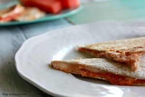 Quick and easy pizza quesadillas