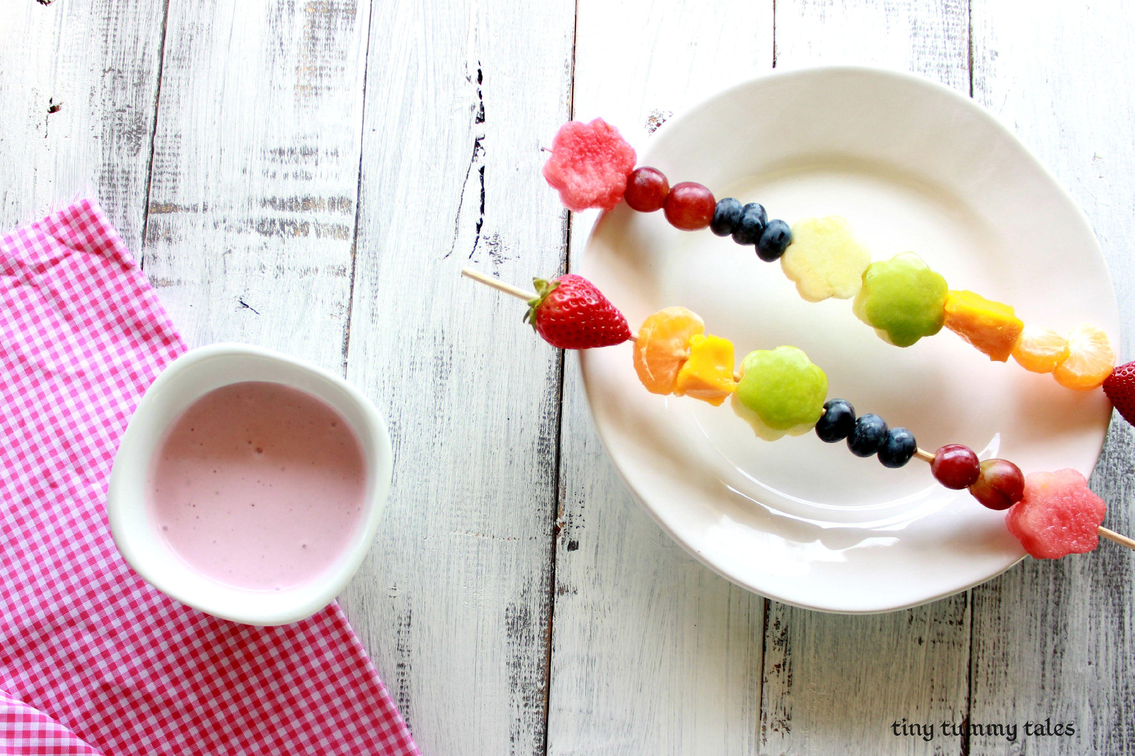 Rainbow Fairy Wand Fruit Kabobs