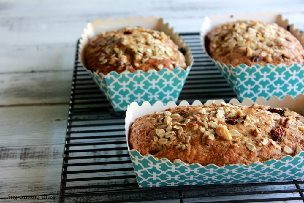 Delicious, soft whole grain banana bread for a healthy kids' snack!