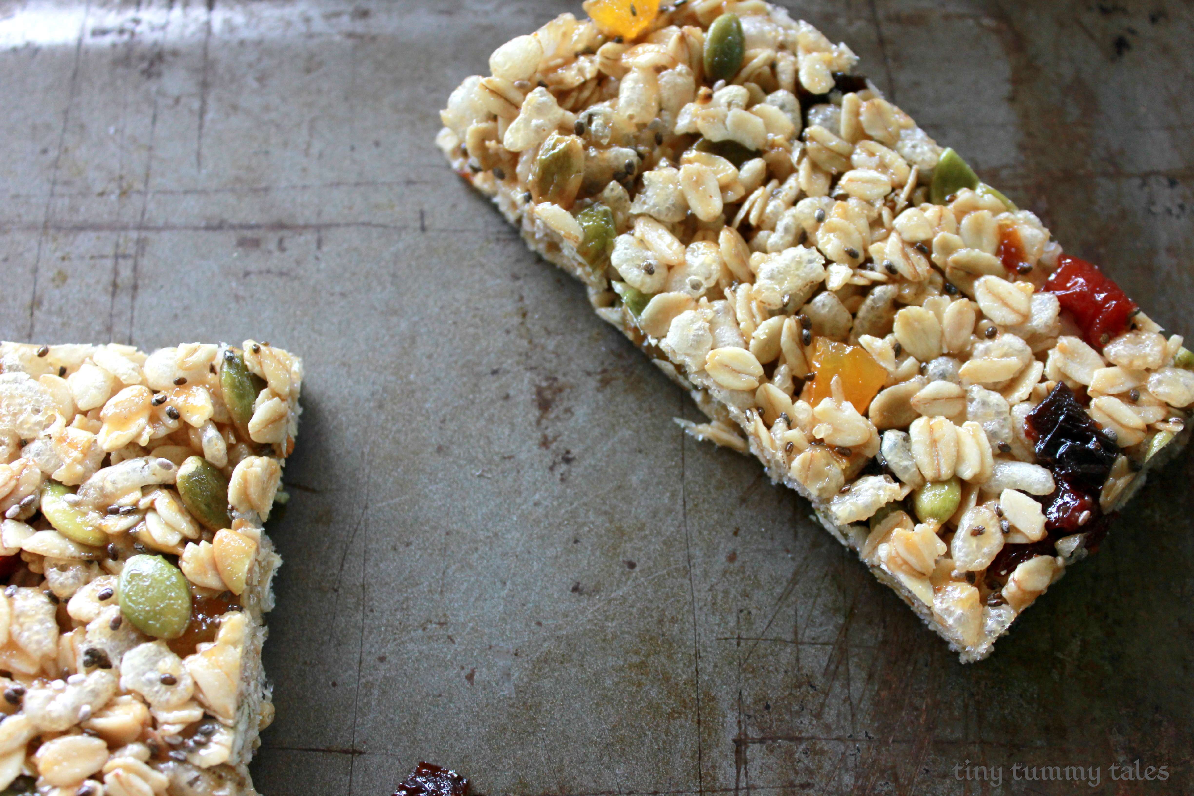 Dairy free granola bars (whole grain!)