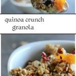 Quick and easy quinoa crunch granola- healthy snack!