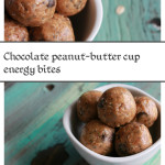 Chocolate Peanut-butter cup energy bites! Delicious homemade snack!