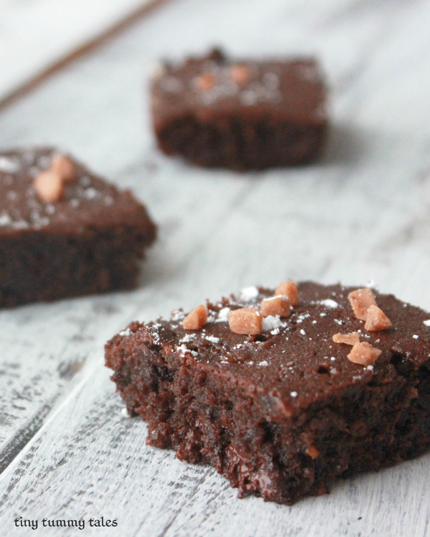 Fudgy mint brownies (with skor bits)