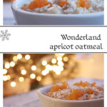 Creamy apricot oatmeal porridge. Perfect Christmas Morning breakfast! Kids breakfast!