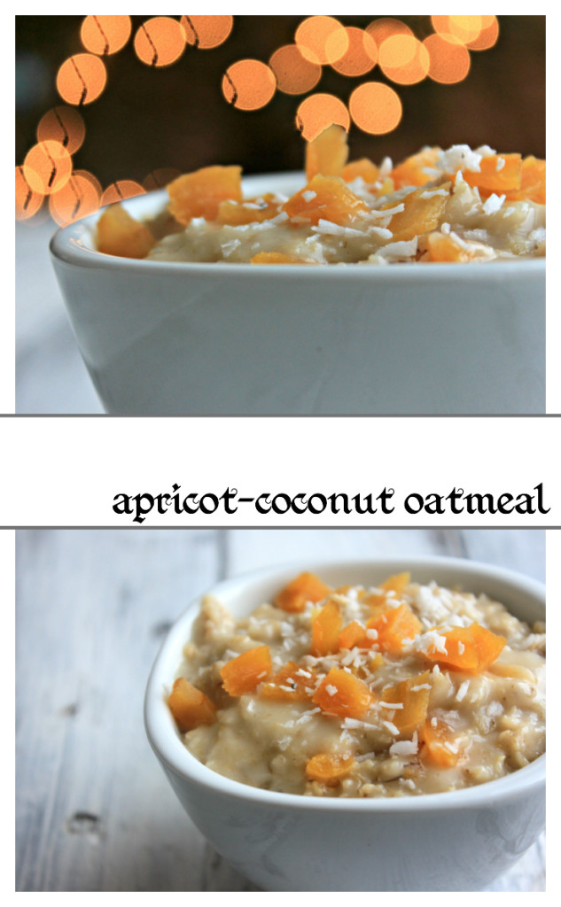 Creamy and delicious apricot oatmeal. Perfect for Christmas Morning breakfast!