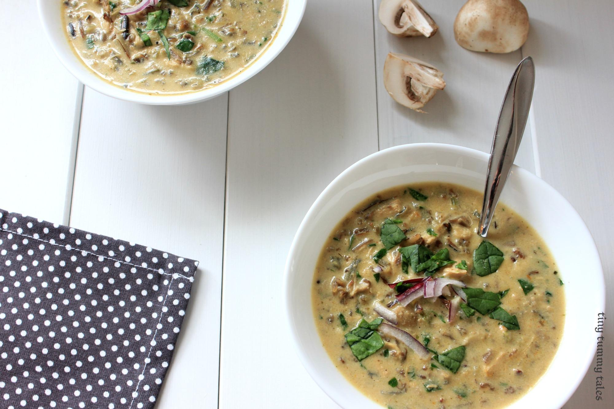 Mushroom wild-rice soup (dairy free)
