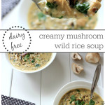 Creamy and flavour packed mushroom wild-rice soup! Healthy kid loved recipe. Dairy free, gluten free, whole foods, and tasty:)