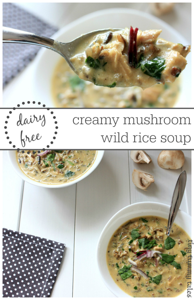 Creamy and flavour packed mushroom dairy free wild rice soup! Healthy kid loved recipe. Dairy free, gluten free, whole foods, and tasty:)