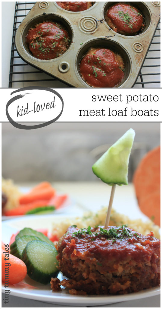 Delicious and easy, mildly spicy with a sweet undertone in these sweet potato filled mini meat loafs! Such a fun idea for a healthy kid-loved meal.