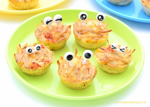 leftover spaghetti muffins- a healthy kids' lunchbox recipe!
