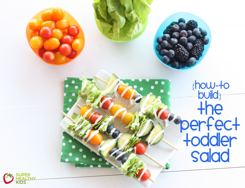 How to build the perfect toddler salad from super healthy kids! Awesome for lunch boxes!