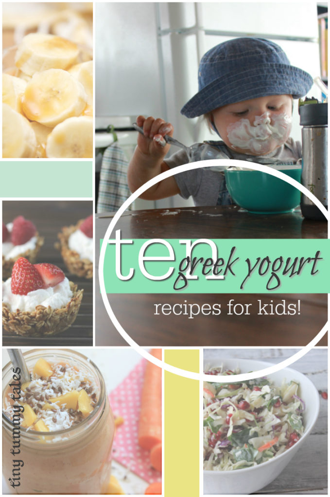 10 delicious recipes using greek yogurt kids will love! Add some probiotics for healthy kids!