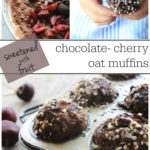 Soft and flavourful chocolate cherry oat muffins with hemp hearts, sweetened with fruit! Great snack recipe for healthy kids:)
