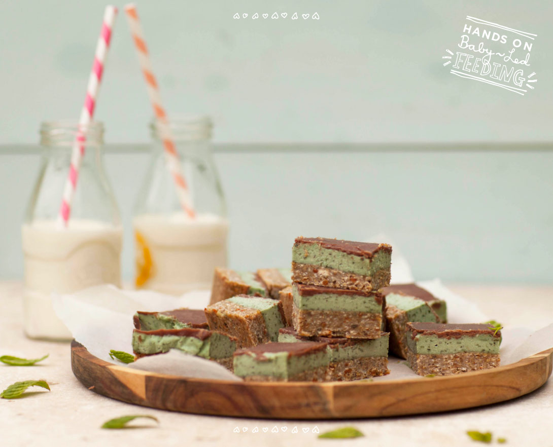 mint chocolate slice! A healthy kids christmas recipe roundup!