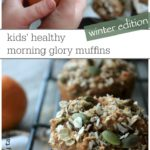 Delicious and easy kid loved morning glory muffins made with whole grains, oranges, and seeds! They are dairy free- a great healthy kids breakfast recipe!