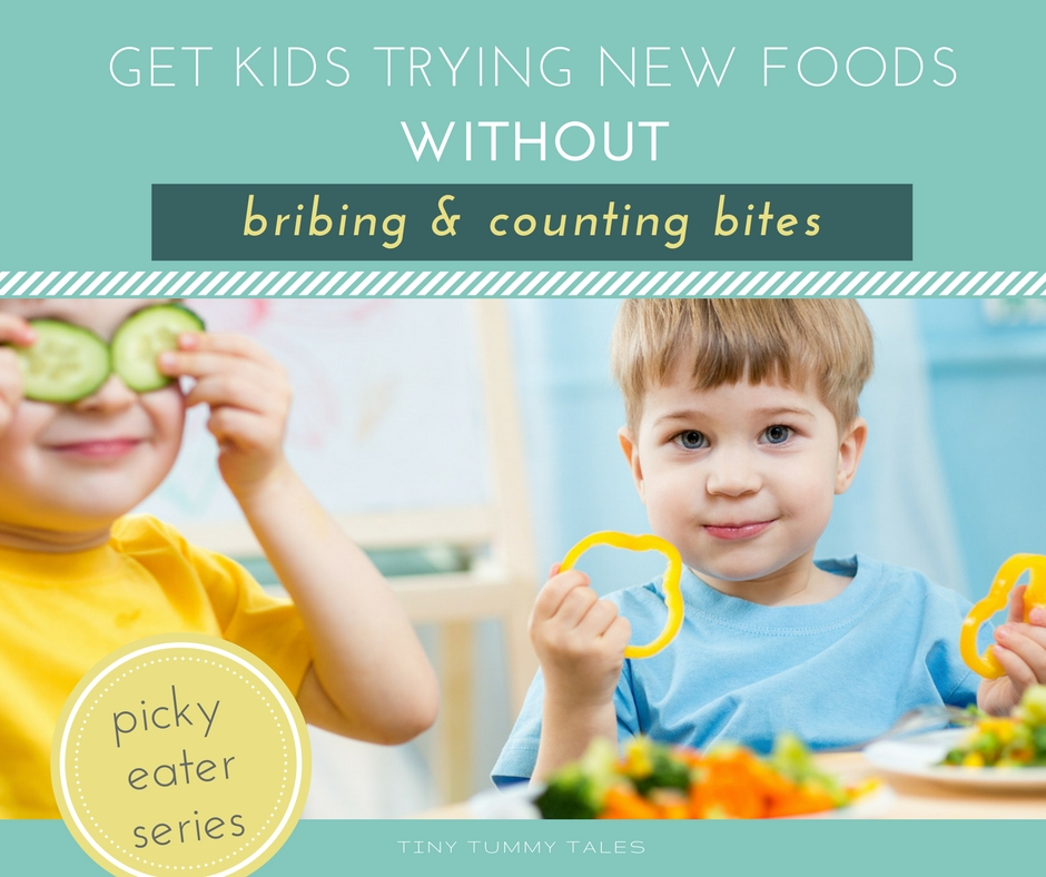 Get kids trying new foods without bribing and counting bites