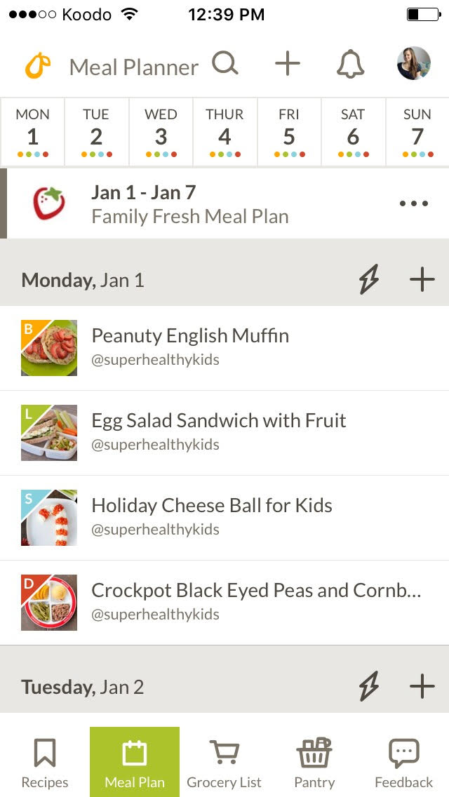 awesome FREE meal planning app