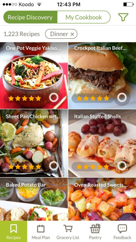amazing free meal planning app!